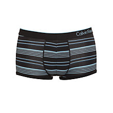 Buy Calvin Klein Underwear Micro Stripe Trunks, Black/Blue Online at johnlewis.com