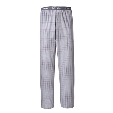 Buy Calvin Klein Woven Plaid Pyjama Pants, Grey Online at johnlewis.com