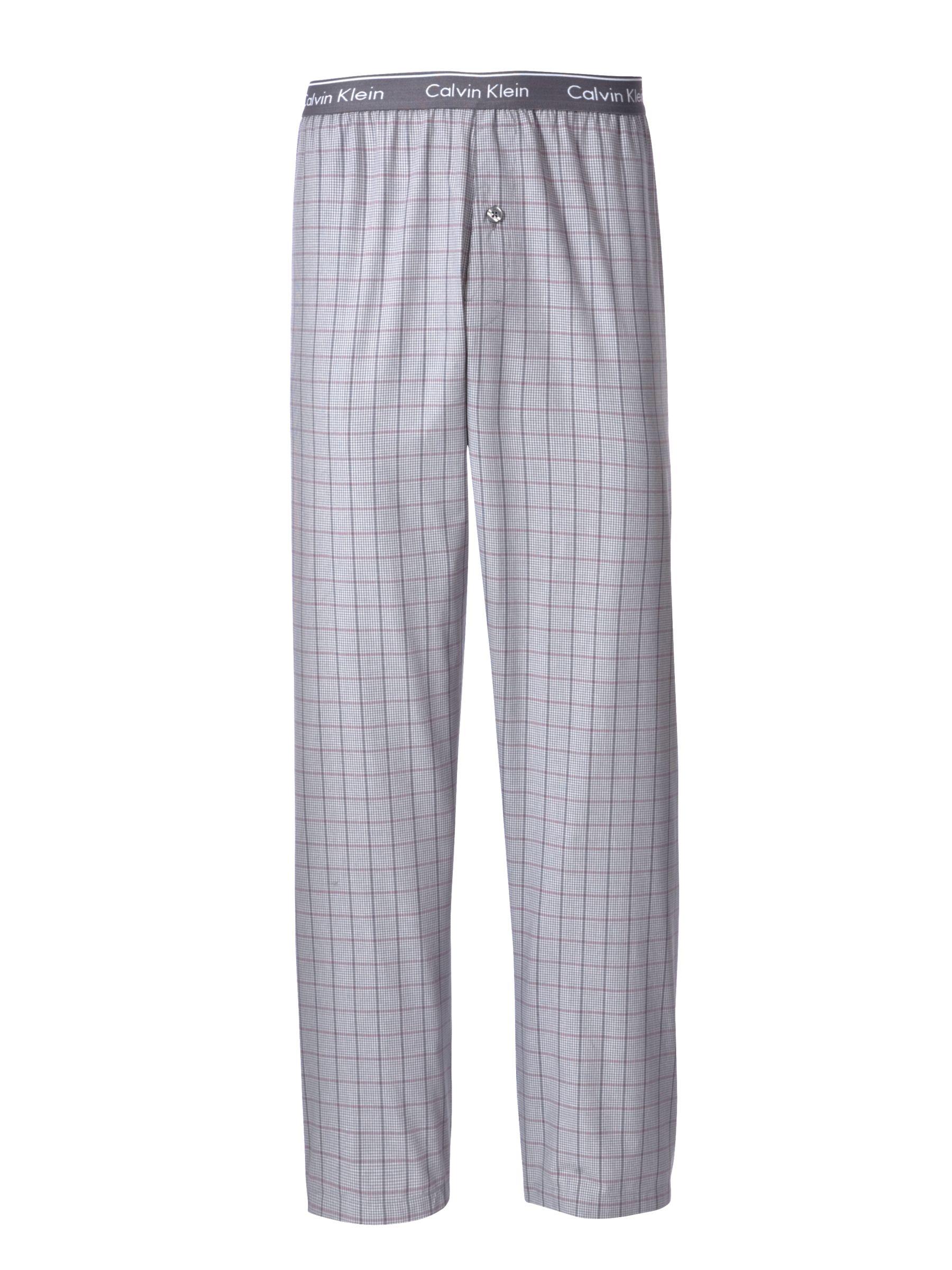 Calvin Klein Woven Plaid Pyjama Pants, Grey