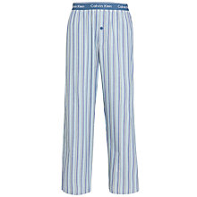 Buy Calvin Klein Striped Pyjama Pants, Blue/Yellow Online at johnlewis.com