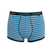 Buy Calvin Klein CK One Stripe Trunks, Blue Online at johnlewis.com