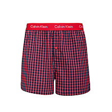 Buy Calvin Klein Underwear Slim Fit Check Boxers, Red Online at johnlewis.com