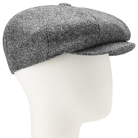 Buy JOHN LEWIS & Co. Donegal Tweed Baker Boy Cap, Grey Online at johnlewis.com