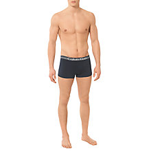 Buy Calvin Klein Underwear Micro Low Rise Trunks, Dark Blue Online at johnlewis.com