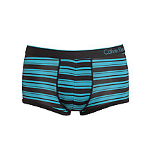 Buy Calvin Klein CK One Micro Stripe Trunks, Blue Online at johnlewis.com