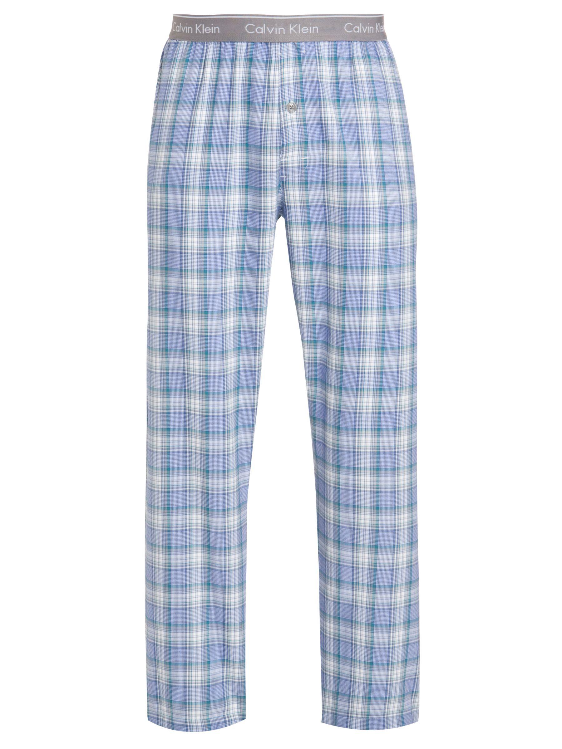Calvin Klein Check Pyjama Pants, Blue/Green