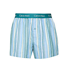 Buy Calvin Klein Underwear Micro Stripe Trunks, Blue/Red Online at johnlewis.com