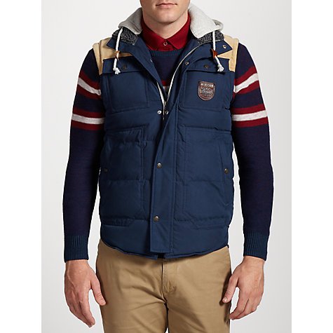 Buy Hilfiger Denim Nolan Gilet, Black Iris Online at johnlewis.com