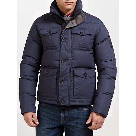 Buy Tommy Hilfiger Damien Padded Bomber Jacket, Navy Online at johnlewis.com