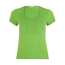 Buy Precis Petite Pleat Front Top, Green Online at johnlewis.com