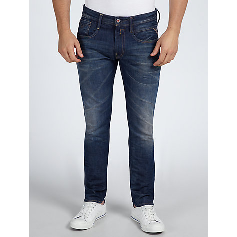 Buy Replay Anbass Slim Straight Jeans Online at johnlewis.com
