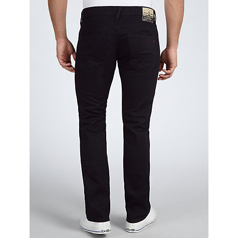 Buy Replay Waitrom Slim Straight Jeans, Black Online at johnlewis.com