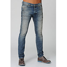 Buy Diesel Tepphar Regular Slim Fit Jeans,  813W, Dirty Wash Online at johnlewis.com