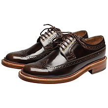 Buy Grenson Sid Long Wing Stormwelt Brogue Derby Shoes, Brown Online at johnlewis.com