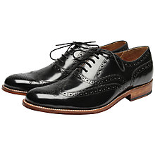 Buy Grenson Dylan Leather Goodyear Welt Brogue Shoes Online at johnlewis.com