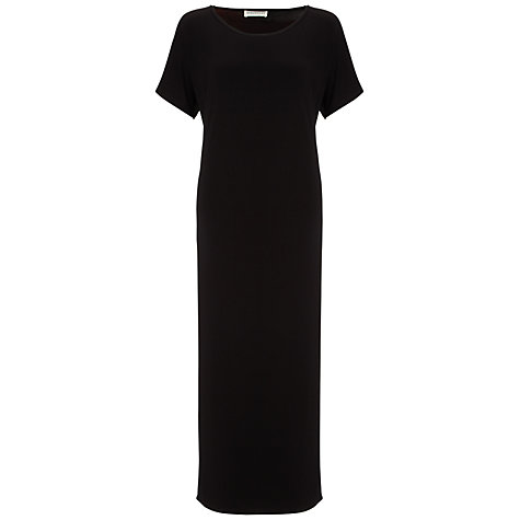 Buy Whistles Midi Jersey Dress, Black Online at johnlewis.com