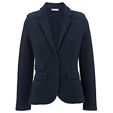 Buy Whistles Lena Double Face Jersey Jacket, Navy Online at johnlewis.com