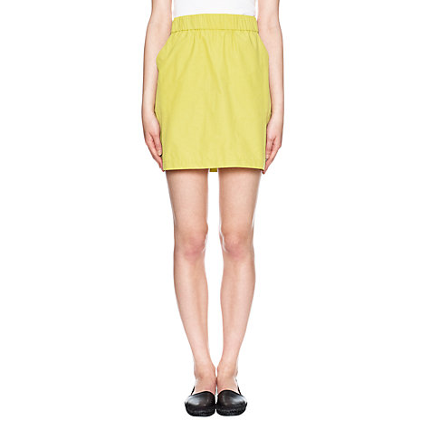 Buy Whistles Cotton Mix Short Skirt Online at johnlewis.com