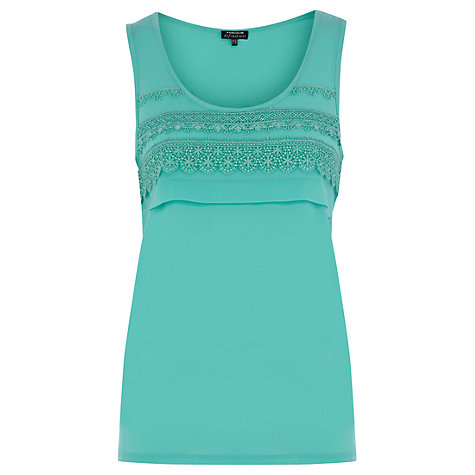 Buy Warehouse Satin Trim Vest Top Online at johnlewis.com