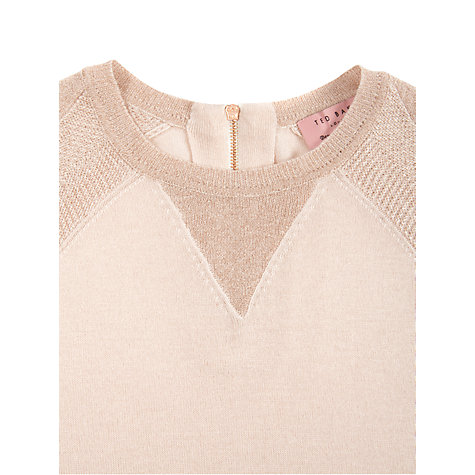 Buy Ted Baker Anada Sparkle Sleeve Sweater, Pale Pink Online at johnlewis.com