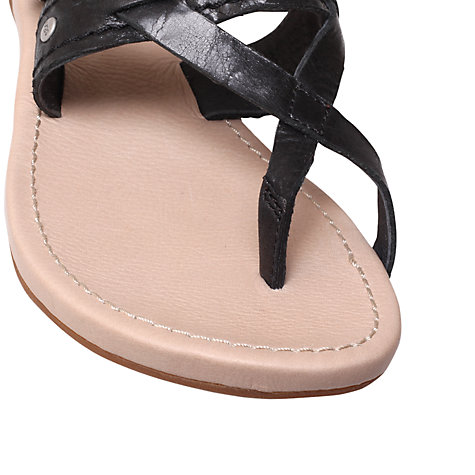 Buy UGG Mireya Sandals, Black/Beige Online at johnlewis.com