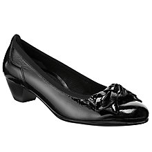 Buy Gabor Lunar Patent Court Shoes, Black Online at johnlewis.com