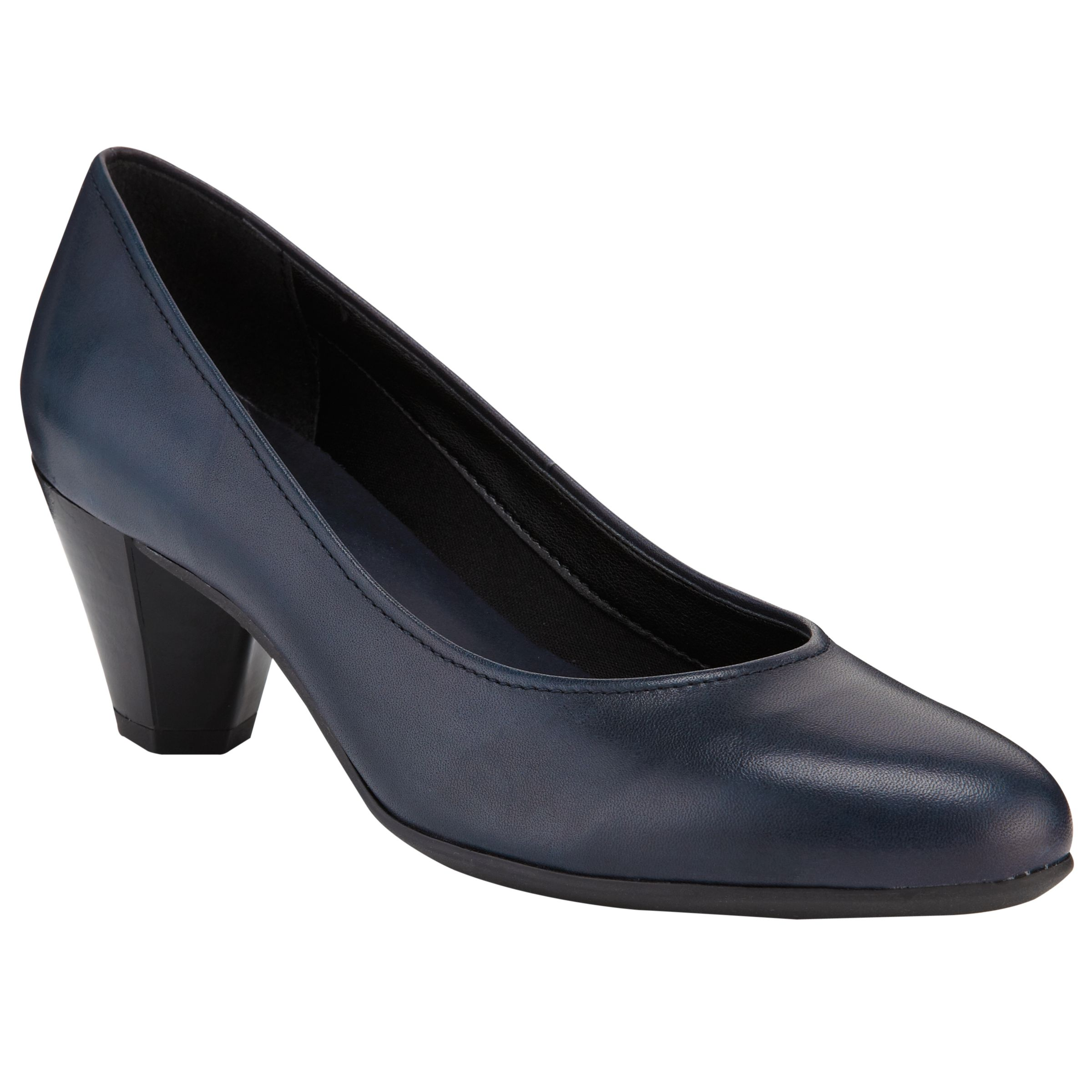 John Lewis Designed For Comfort Pelican Patent Court Shoes, Navy