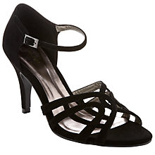 Buy John Lewis Occasion Carlylea Open-Toe Court Shoes, Black Online at johnlewis.com