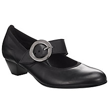 Buy Gabor Award Court Shoes, Black Online at johnlewis.com