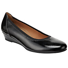Buy Gabor Chester Patent Pumps, Black Online at johnlewis.com