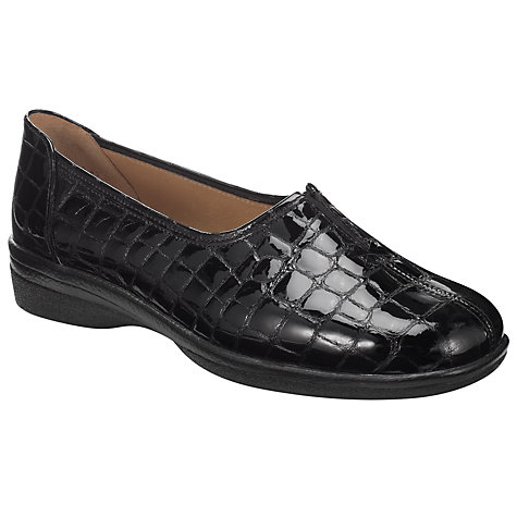 Buy Gabor Alice Patent Pumps, Black Online at johnlewis.com