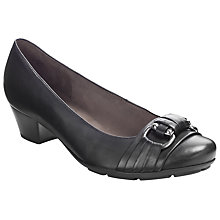 Buy Gabor Focus Court Shoes, Black Online at johnlewis.com