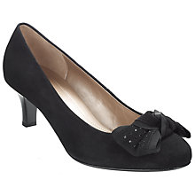Buy Gabor Fern Court Shoes, Black Online at johnlewis.com