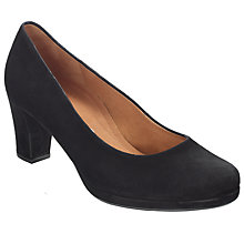 Buy Gabor Ella Court Shoes, Black Online at johnlewis.com