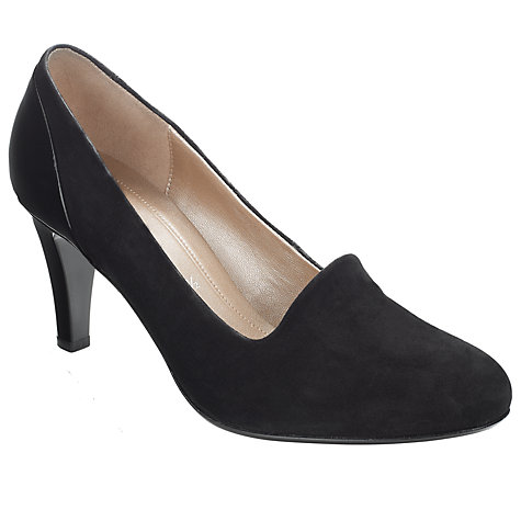 Buy Gabor Vision Court Shoes, Black Online at johnlewis.com