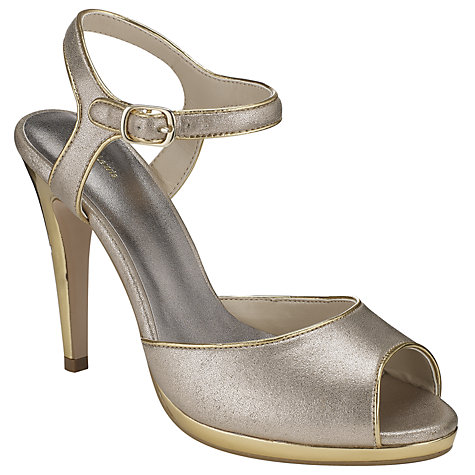 Buy John Lewis Occasion Hazlit Peep Toe Ankle Strap Sandals Online at johnlewis.com