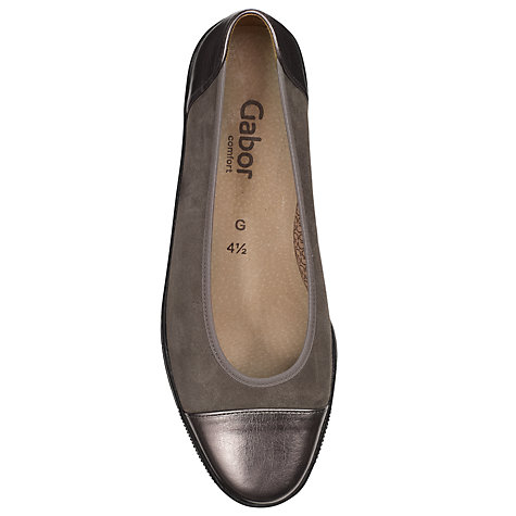 Buy Gabor Petunia Ballerina Wedge Pumps, Pewter Online at johnlewis.com