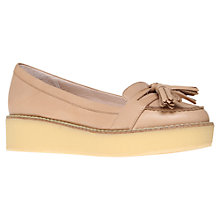 Buy KG by Kurt Geiger Lyon Wedged Moccasins, Camel Online at johnlewis.com