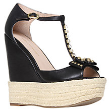 Buy KG by Kurt Geiger Nimes Wedged Sandals, Black Online at johnlewis.com
