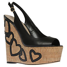 Buy KG by Kurt Geiger Nuovo Heeled Wedges Online at johnlewis.com