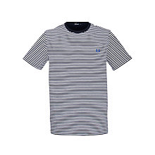 Buy Fred Perry Sharp Stripe Crew Neck T-Shirt, Black/White Online at johnlewis.com