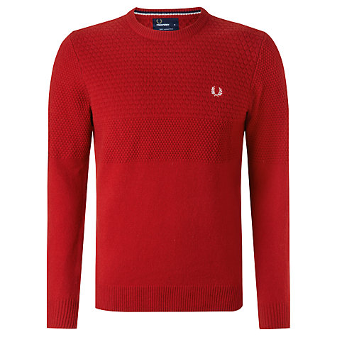 Buy Fred Perry Bobble Knit Lambswool Jumper Online at johnlewis.com