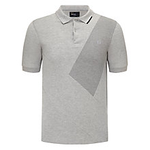 Buy Fred Perry Cut And Sew Sash Polo Shirt, Grey Marl Online at johnlewis.com