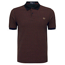 Buy Fred Perry Circle Print Polo Shirt, Navy/Red Online at johnlewis.com