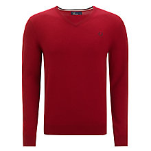 Buy Fred Perry Classic Tipp V-Neck Jumper Online at johnlewis.com