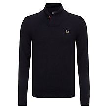 Buy Fred Perry Classic Shawl Neck Jumper, Navy Online at johnlewis.com