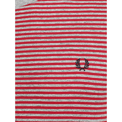 Buy Fred Perry Striped Crew Neck T-Shirt, Red Online at johnlewis.com