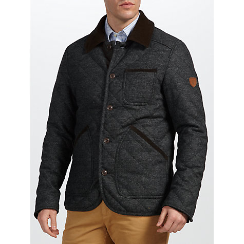 Buy Gant Country Quilter Jacket, Charcoal Online at johnlewis.com