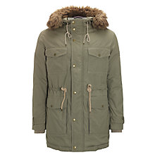 Buy Gant Hooded Mountain Parka Jacket, Olive Online at johnlewis.com