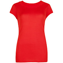 Buy Ted Baker Scallop Neck T-Shirt, Dark Orange Online at johnlewis.com